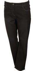 Zhenzi - Schritt gerades Bein normaler fit lang Denim Hosen mit Stretch und Regulierbar Elastik in die Taille