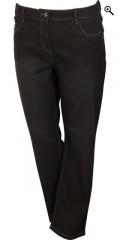Zhenzi - Step straight leg normal fit long denim pants med strech og regulerbar elastik i taljen