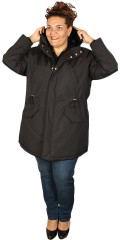 Cassiopeia - Susan long jacket with cap, storm flap and adjustable line in the waist