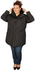 Cassiopeia - Susan lang jakke med hette, stormklaff og variabel line i taljen