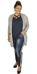Cassiopeia - Tinka cardigan with pockets and smart contrast