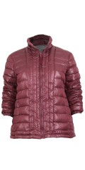 Cassiopeia - Kamma fleece jacket in stylish claret-coloured colour