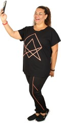Zhenzi - T-Shirt mit kurz Flügelärmel
