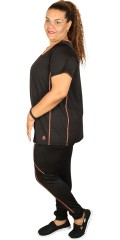 Zhenzi - Hosen/Leggings Fitness in super strechy Material mit Elastik in die Taille und mit Schlüssel Tasche hinten