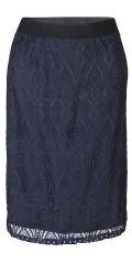 Zhenzi - Spets kjol med vid gummiband i hela midjan, och fast påsydd foder