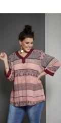 Zhenzi - Shirt blouse with 3/4 sleeves and fine neck