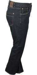 Zhenzi - Steg raka ben normala passform lång denim byxor med streck och justerbar gummiband i midjan