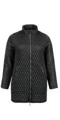 CISO - Quilted täcke jacka med vid krage och dubbel blixtlås
