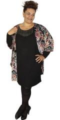Adia - Tunika/klänning med långa vinge ärmar och vacker kedjor vid halsen