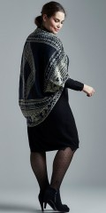Adia Fashion - Shawl vest in fine knit and super nice pattern