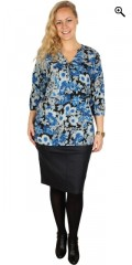 Cassiopeia - Sia skjorte bluse med stolpelukning og i super flot blomster print