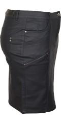Zhenzi - Beschichtet Leder Look Rock in super Stretch mit 5 Taschen