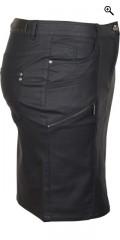 Zhenzi - Coated læder look nederdel i super strech med 5 lommer