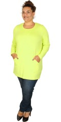 Q´neel - Stylish q-neel tunica/blouse in quality viskose-jersey, round neck also 2 pockets