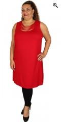 Que (Godske Group) - Que topp/klänning i a fason med rå utringning