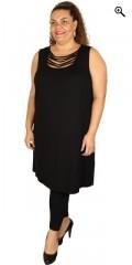 Que (Godske Group) - Que top/kjole i a facon med rå halsudskæring