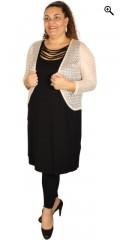 Q´neel - Que top/kjole i a facon med rå halsudskæring