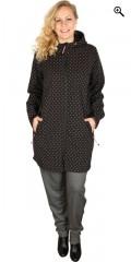 Zhenzi - Soft shell jacket, black with dots