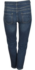 Cassiopeia - Jeans 7/8 denim with stretch and adjustable rubber band in the waist