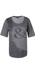 Zhenzi - T-shirt med korte ærmer og tryk på forsiden