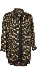 Zhenzi - Lång skjorta med prickar och i en super läcker kvalitet