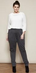 Zhenzi - Hosen in leicht Freund Stil mit teilweise Elastik in die Taille