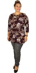 Zhenzi - Tunica blouse with 3/4 sleeves