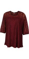 Zhenzi - Tunika genser med 3/4 ermer i fantastisk flott blonde, og med hard sydd topp under