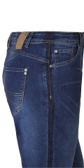 Zhenzi - Stomp super strechy jeans with belt straps and adjustable rubber band in the waist also 5 pockets