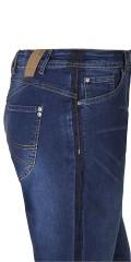 Zhenzi - Stomp super strechy Jeans mit Gurtträger und Regulierbar Elastik in die Taille sowie 5 Taschen