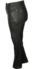 Zhenzi - Coated salsa stretch jeans with adjustable rubber band in the waist