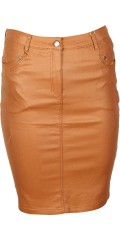 Zhenzi - Nice coated pencilskirt with stretch and adjustable rubber band in the waist