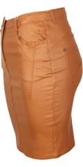 Zhenzi - Flot coatet pencilskirt med strech og regulerbar elastik i taljen