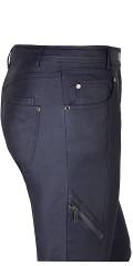 Zhenzi - Blau beschichtet Stretch Jeans (Modell stomp legging fit) mit Regulierbar Elastik in die Taille