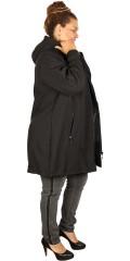 Zhenzi - Long soft shell jacket with cap