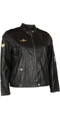 Zoey - Kort läder utseende jacka med flera detaljor och blixtlås fickor