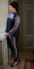 Zoey - Super smart pants/leggings in 2 qualities with metal galons in the sides