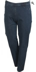 Classic strechy denim jeans with super fit, rubber band in whole the waist