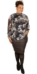 DNY - Rosie blouse with smock in the neck and the sleeves with good stretch
