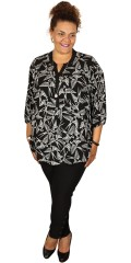 Gozzip - Shirt blouse with 3/4 sleeves and