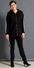 Studio - Casual jacket with knitted hat in strechy material