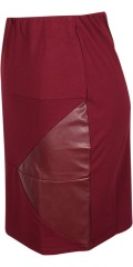 Studio - Skirt with rubber band in the waist and a piece of imitation leather