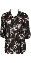 Studio - Lang skjorte med 3/4 ermer og flott snitt under brystet og i flott mønster