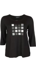 Handberg - T-shirt mit rund hals und 3/4 Ärmeln
