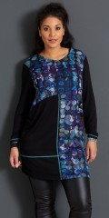 Handberg - Tunica/dress with long sleeves in nice strechy quality