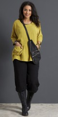 Handberg - Baggy halblange Hosen mit Elastik in ganze die Taille sowie in den Beinen