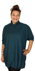 Handberg - T-shirt/tunika med rullekrave og 3/4 ermer