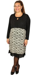 One More - Dress with flounces at the bottom and in different pattern and materials