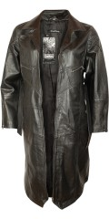 One More - Super hot and smart lambskin coat with rough zipper