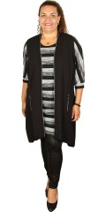 Cassiopeia - Elisa tunica dress with round neck and in thin knit with stripes